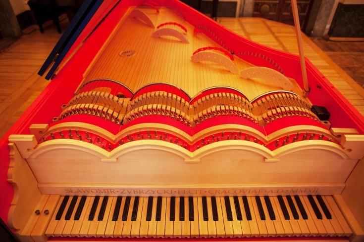 Музичний інструмент спроектований Леонардо да Вінчі